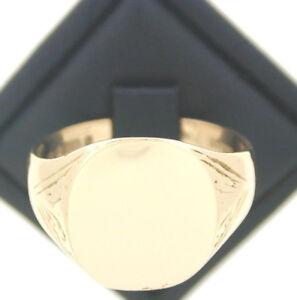 1972-9ct-Yellow-Gold-Gents-Signet-Ring-size-S-1-2