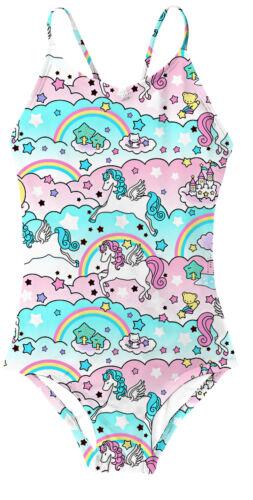 Girls Unicorn Mermaid Swimming Costume Swimsuit Beach Swimwear Bathing Suits