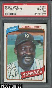 1980 Topps #414 George Scott New York Yankees PSA 10 GEM MINT