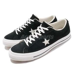 394158c9a84989 Converse One Star OX Black Vintage White Men Women Skate Boarding ...