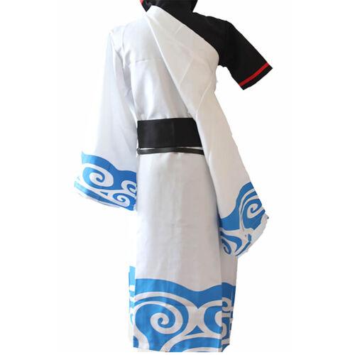 S-2XL Gintama Gintoki Sakata Cartoon Anime Kimono Outfit Cosplay Costume