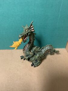 Vintage Papo Fire Breathing Dragon Figure 1999 Toy