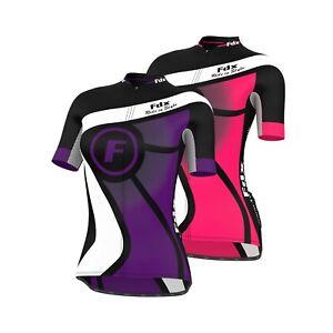 Ladies Cycling Jersey Women Bike Cycle Jersey Top Short Sleeve Full Zipper Shirt