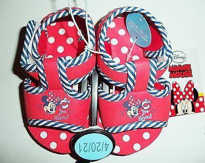 Neufs avec étiquette PROMO -25/% DISNEY Tongs rouges Minnie