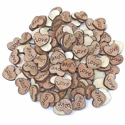Love Cuori In Legno Shabby Chic Craft Scrapbook Vintage Coriandoli Cuori 15mm- Impermeabile, Resistente Agli Urti E Antimagnetico