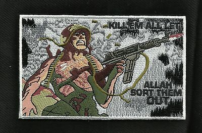 KILL 'EM ALL LET ALLAH SORT THEM OUT COMBAT BADGE MORALE VELCRO MILITARY PATCH