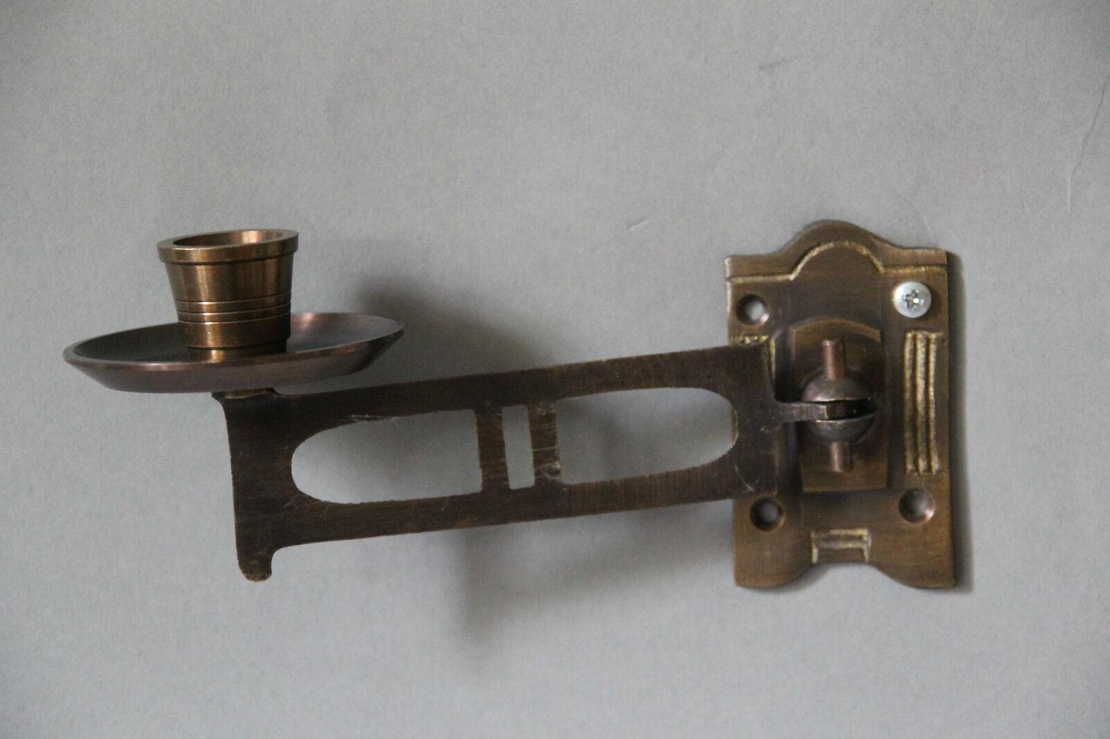 Paar Kerzenhalter Klavierleuchter Wandleuchter Messing brüniert  NEU  1226.0B    Erlesene Materialien