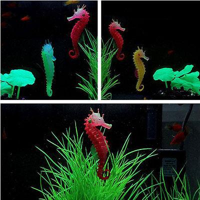 3 Colors Aquarium Artificial Hippocampus Ornament Fish Tank Luminous Decoration
