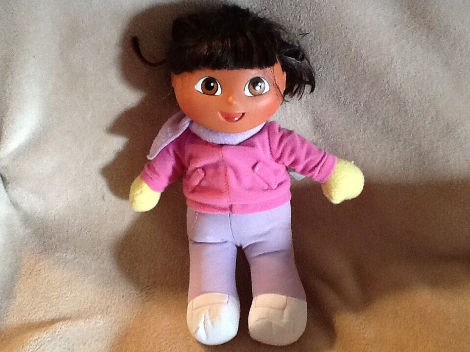 Dora the explorer soft doll plastic head 12  Plush Doll Stuffed Animal