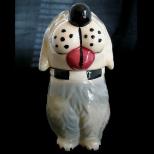 VINTAGE USA DAN The DOG Ceramic Pottery Cookie Treat Jar MCCOY? Not-marked-ALPO