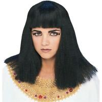 Cleopatra Economy Wig Straight Black Wig With Bangs