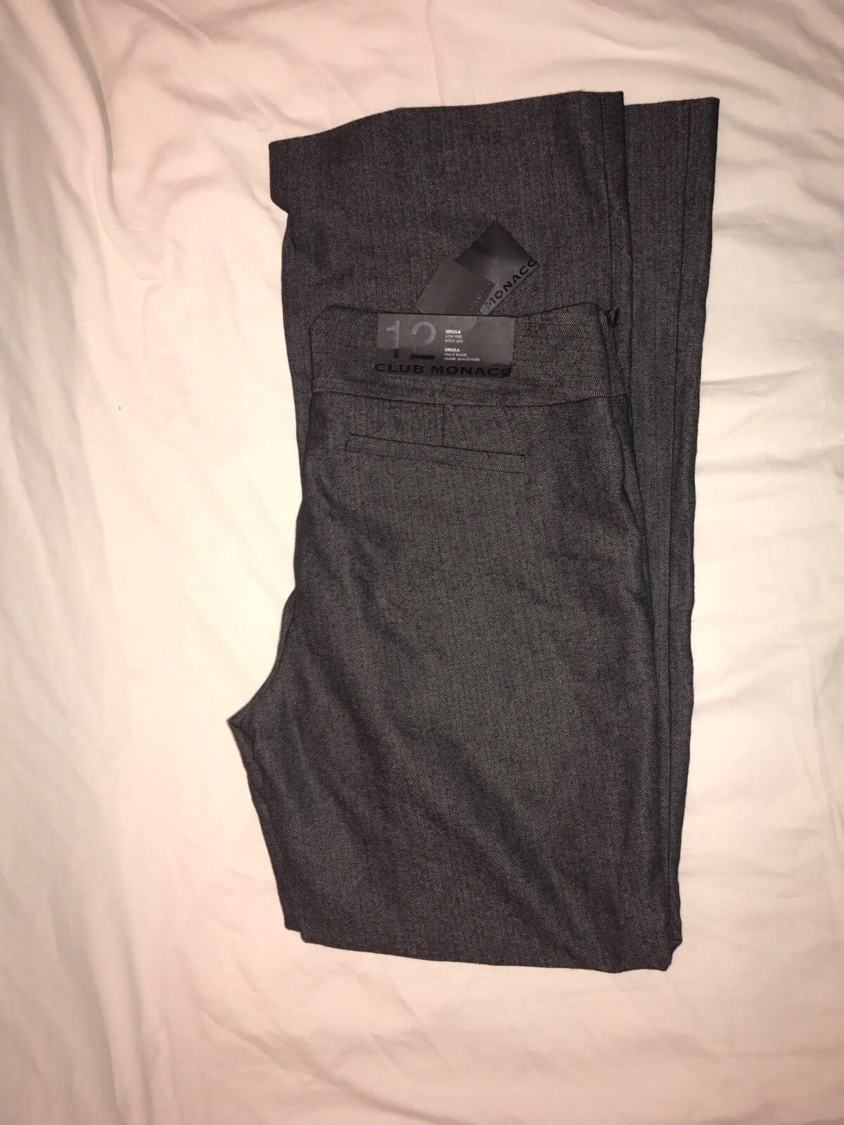 NWT Club Monaco Ursula Bootleg Women's Pants Wool Sz 12 free shipping