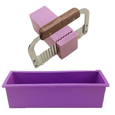 Silicone Soap Molds Making Tools Loaf Handmade Cake Toast Baking Moulds