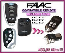 FAAC FIX2 / FAAC FIX3 / FAAC FIX4 compatibile telecomando 433,92Mhz Rolling code