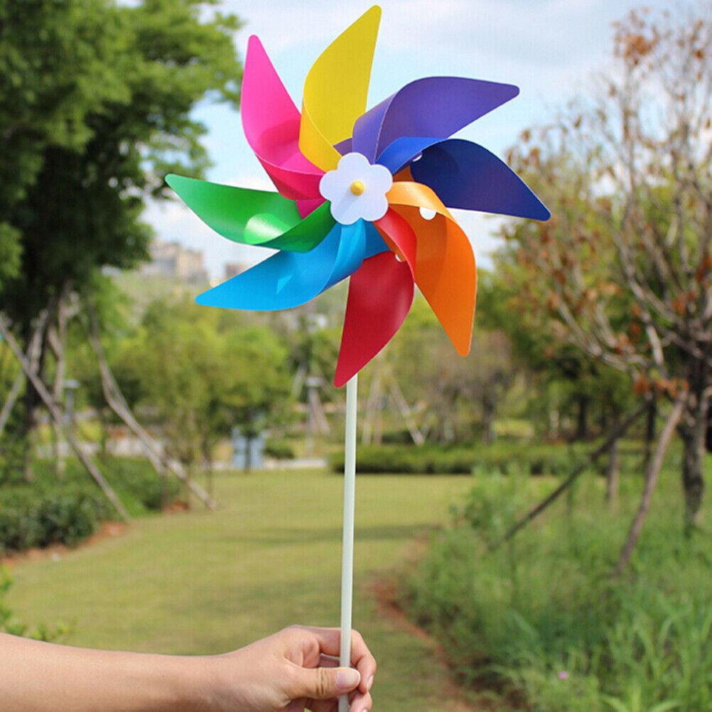 Garden Yard Party Outdoor Windmill Wind Spinner Ornament Decoration Kids Toys.ji