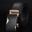 Men/'s Automatic Buckle Belt Real Leather Belts Waist Ratchet Business Waistband