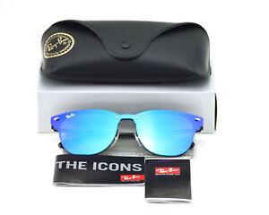 864108c1989 Ray-Ban RB3576N Blaze Clubmaster 153 7V Black Frame Violet Blue ...