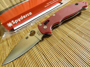 Details about Spyderco C101GPRD2 Manix 2 Red CPM-20CV knife Exclusive USA  made - NEW