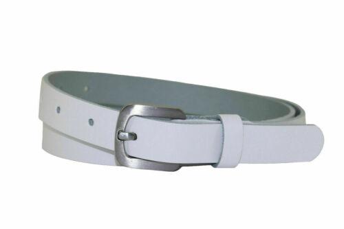 2 cm breit Hüftgürte Cirmini Weiß Neu Damengürtel 100/% echt Leder