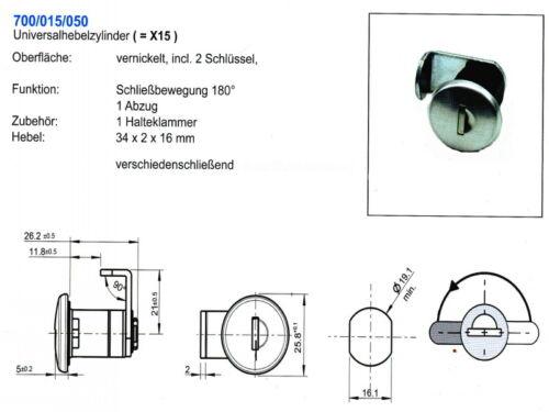 Briefkastenschloss Hebelzylinder passend Renz X 15