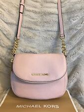 NWT MICHAEL KORS LEATHER BEDFORD FLAP CROSSBODY BAG IN BLOSSOM