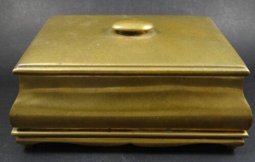 schwere Bronze Deckeldose  (235/10124)
