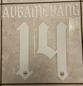 Flocage Nameset AUBAMEYANG #14 Arsenal 2020-2021 Domicile Third. Cup Version