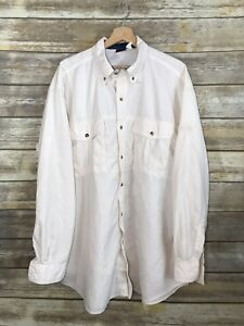 c303033e3 Details about The North Face Men's Shirt Long Sleeve Button Up Outdoor  Vented XL Ivory