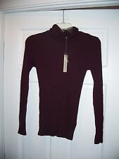 NWT Sonoma Ribbed Turtle Neck Long Sleeve Sweater Size XS Lightweight Stretch