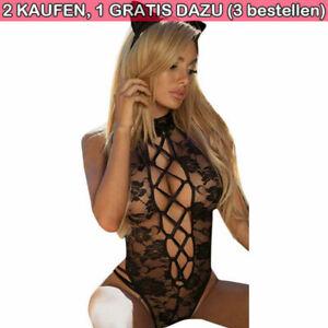 Dame Sexy Spitze Body Erotik Dessous Unterwäschen Hohl Einteiler Schlafanzüge