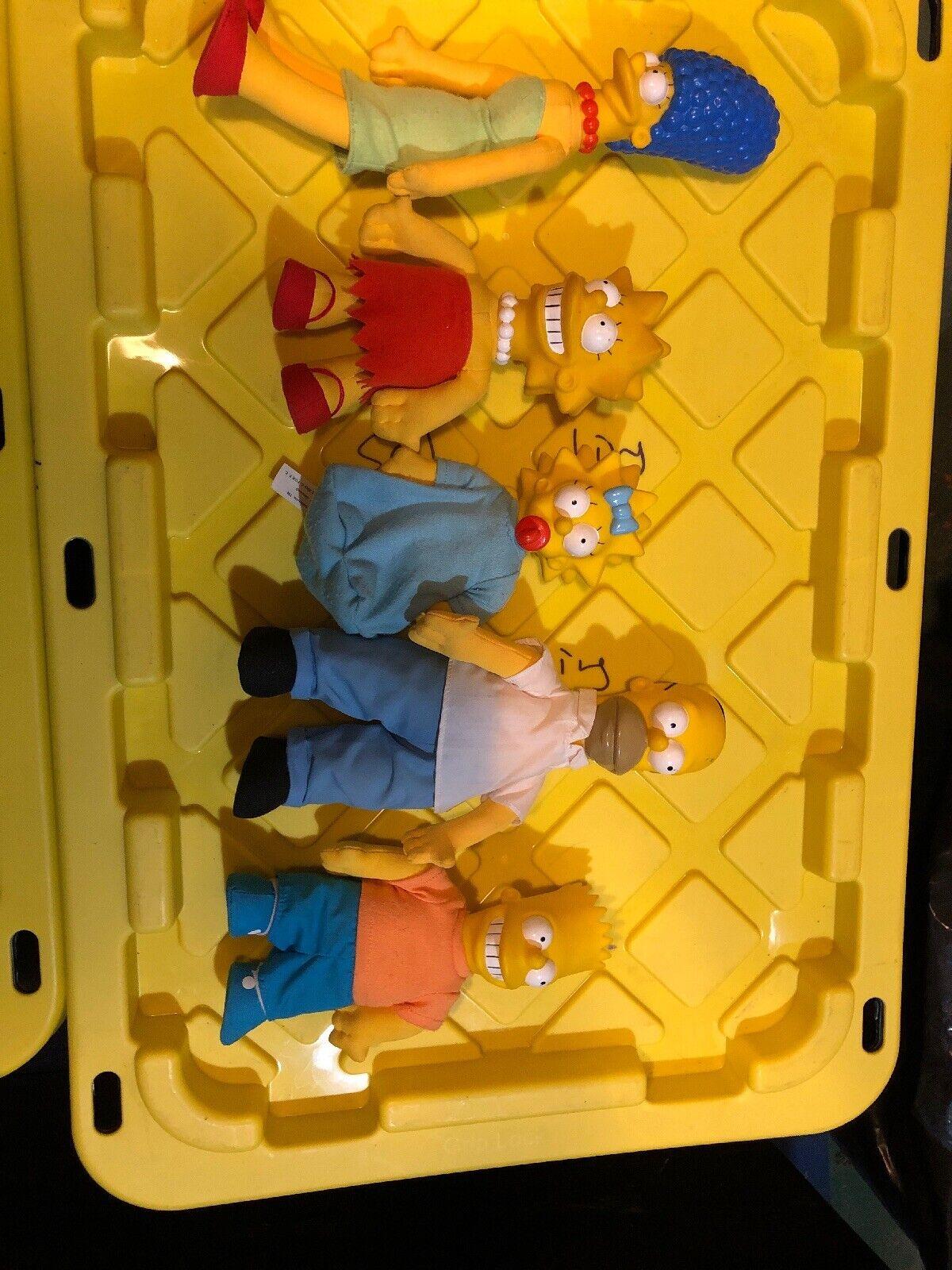 Juego de los Simpsons Familia Muñeco de Peluche Cabeza De Vinilo 1990 Matt Matt Groening 20th Century Fox +