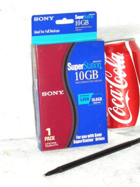 SONY 10GB 10 GB QEX10GB SUPERSTATION SUPER STATION PREFORMATTED DATA TAPE MEDIA