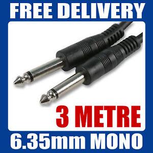 3M-GUITAR-AMP-LEAD-JACK-MALE-PLUG-6-35mm-1-4-034-CABLE-67
