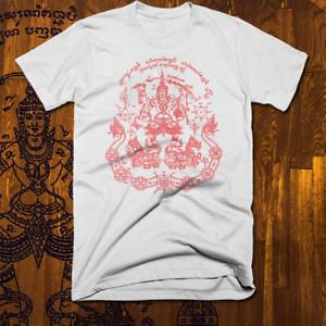 Muay Thai t shirt Brazilian Jiu Jitsu Cage Match Thai Boxing Sak Yant Tattoo New