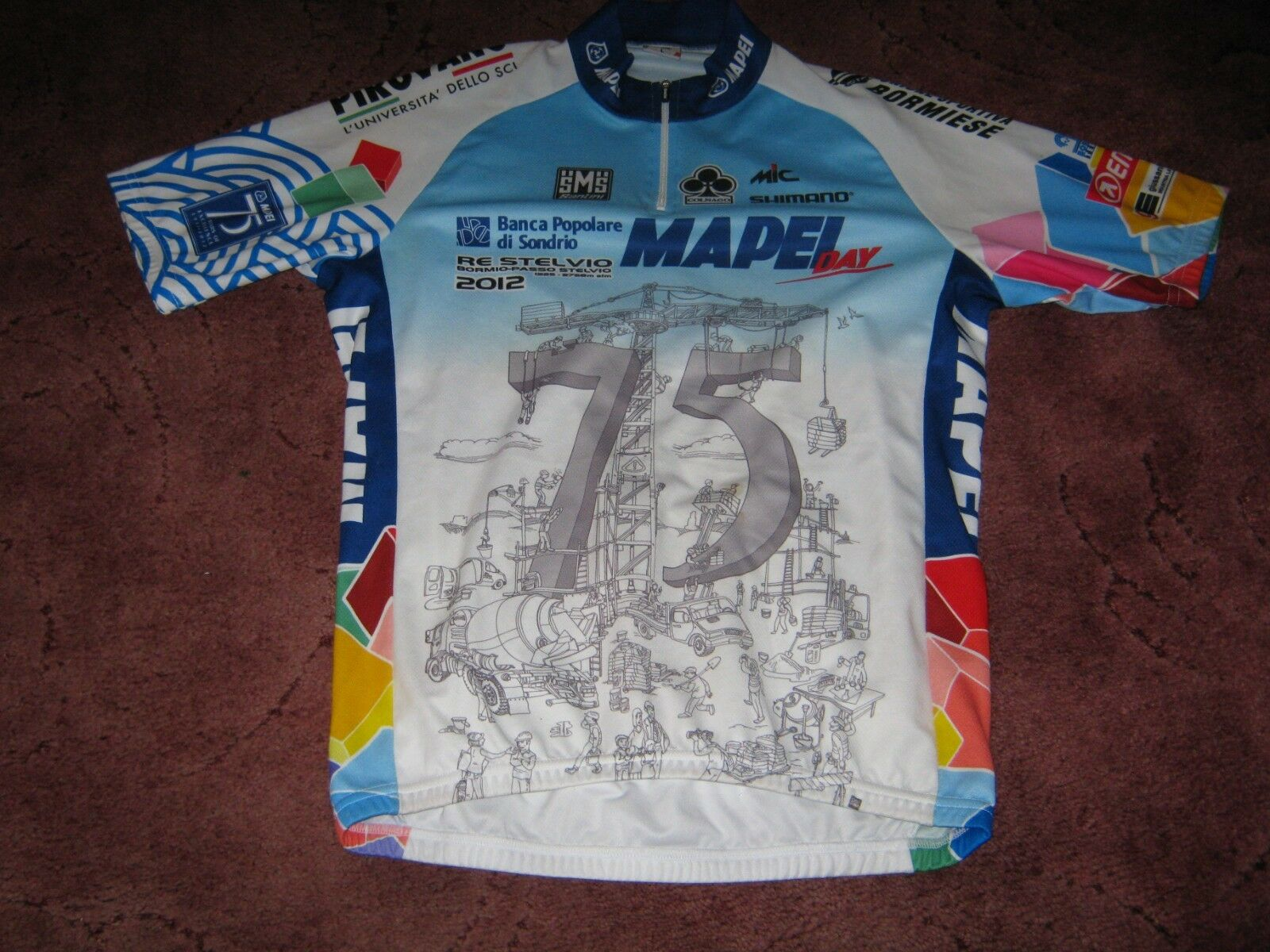 Mapei Day 2012 Santini Italian cycling jersey Sz   Large  all in high quality and low price
