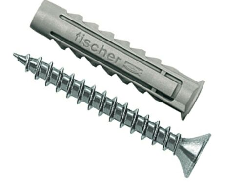 FISCHER 070021 SX 6x30mm Dübel Spreizdübel mit Rand und Schraube 4,5x40mm