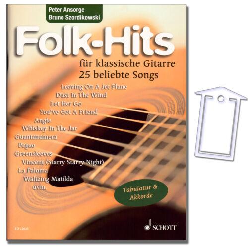 Folk Hits ED22035-9783795749125 NotenKl 25 Songs für klassische Gitarre