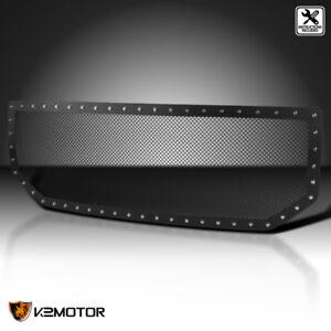 GMC-2016-2018-Sierra-1500-Pickup-Black-Textured-Rivet-Upper-Mesh-Grille-Insert