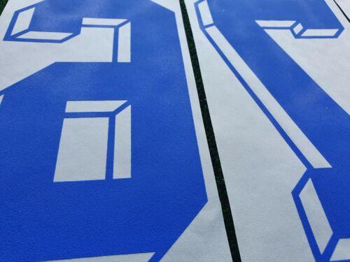 1 PZ NUMERO blu blue tridimensionale NUMBER VINTAGE MAGLIA MAILLOT CALCIO V