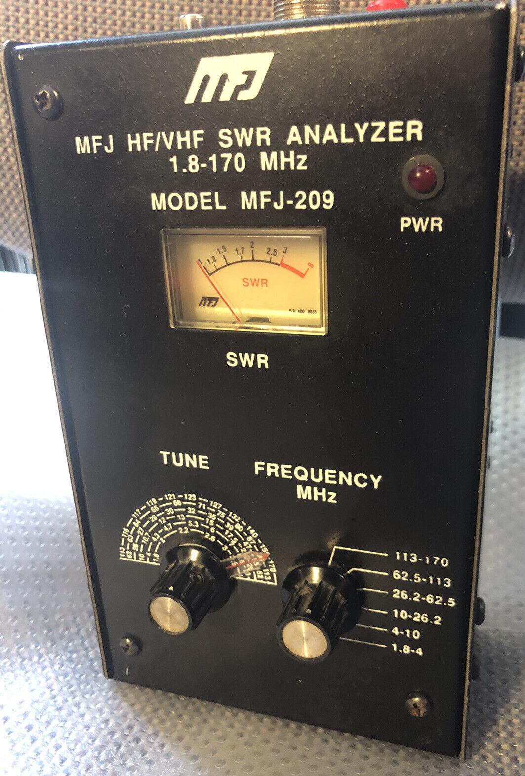 MFJ-209 HF/VHF SWR Analyzer - 1.8-170 MHz. Available Now for 100.00