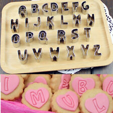 26Pcs DIY Biscuit Cake Mold Cutter Letters Alphabet Shape Mould Fondant Cookie