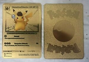 Pokemon-Detective-Pikachu-Gold-Metall-Custom-Card