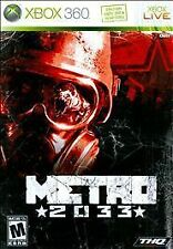 Metro 2033 (Microsoft Xbox 360, 2010) DISC IS MINT