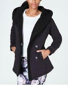 Women-039-s-IDEOLOGY-Hooded-Sherpa-Lined-Jacket-Black-size-XS-NWT-69