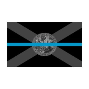 Florida-FL-State-Flag-Thin-Blue-Line-Police-Sticker-Decal-247-Made-in-USA