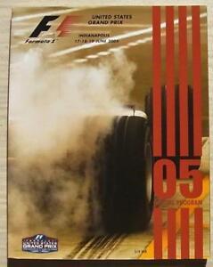 UNITED-STATES-GRAND-PRIX-FORMULA-ONE-2005-Indianapolis-F1-Motor-Sport-Programme