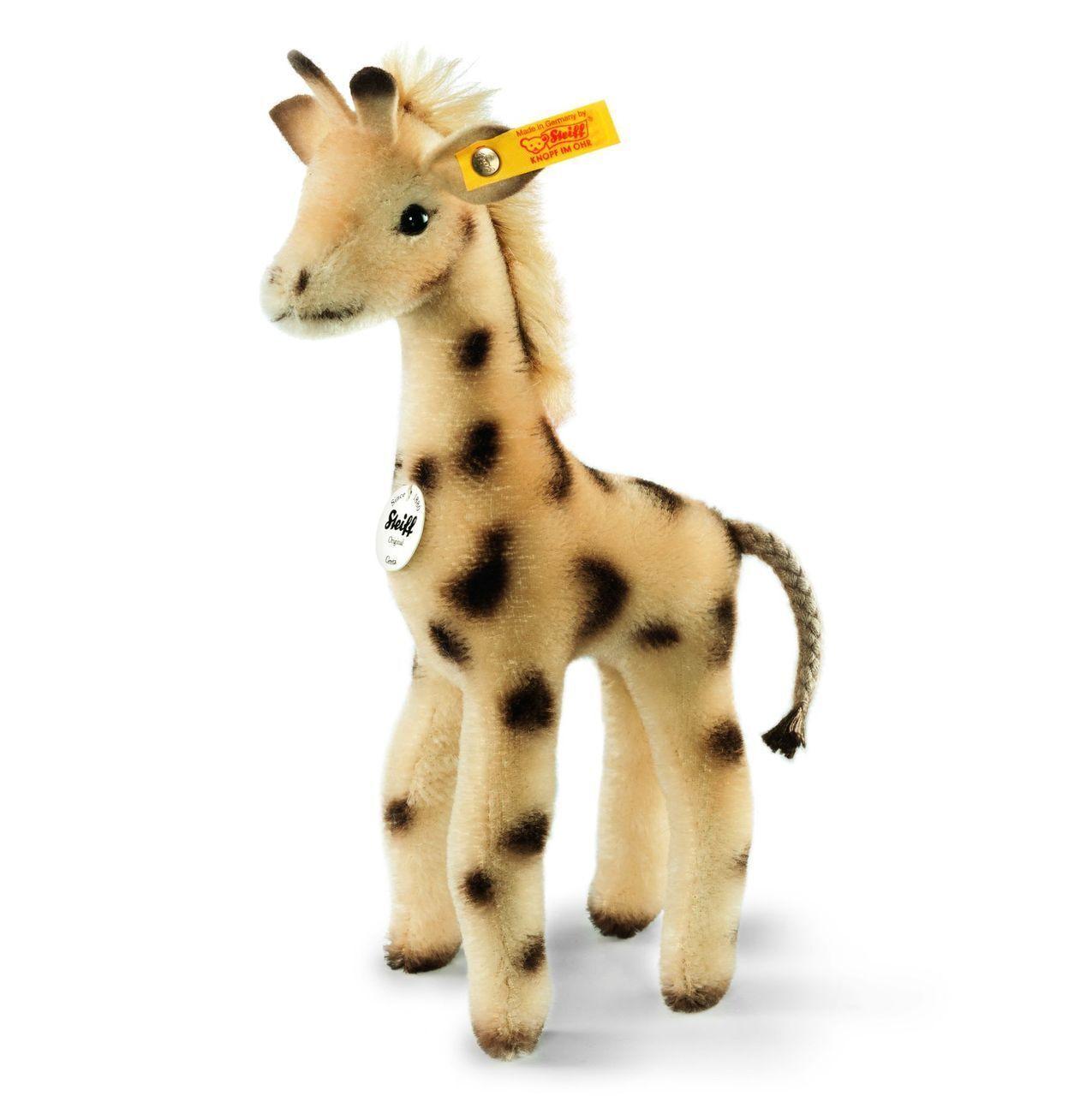 Steiff GRETA GIRAFFE EAN 068058 8.7 inches Mohair Standing Giraffe  - NEW