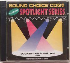 SOUND CHOICE KARAOKE SC-8496 - ORIGINAL SPOTLIGHT CD+G - COUNTRY HITS VOL 1