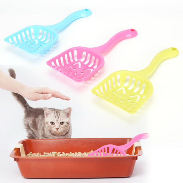 New Plastic Litter Scoop Pet Dog Cat Sand Waste Scooper Shovel Cleaner Tools SDD