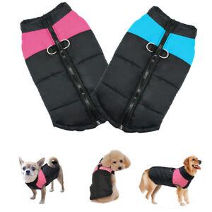 Winter-Hundemantel-Hundepullover-Hundejacke-Hunde-Kleidung-Weste-Blau-Rosa-S-7XL